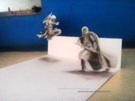 Assassin !!! (3D Drawing) by Ankredible