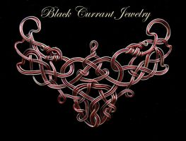 Celtic in Copper and Red by blackcurrantjewelry