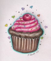 Chocolate Cupcake by TattooSavage