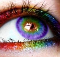 Rainbow eyes by MrsSand