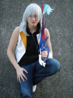 Sitting- Riku by CannibalCupcake