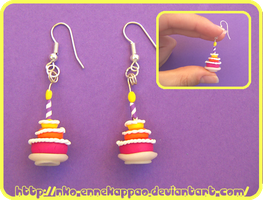 Birthday Girl earrings by Nko-ennekappao