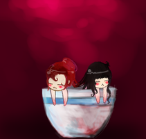 Soup Bowl Girls by marpie