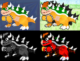 Bowser is Brutally Assaulted by Photoshop Filters by hlavco