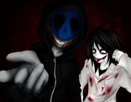 Eyeless Jack and Jeff The Killer by Ren-Ryuki