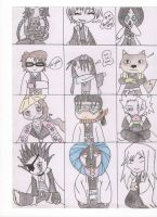 chibi bleach captains by kittymichaels