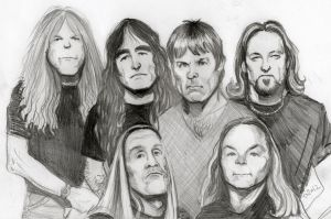 Iron Maiden cartoon by CBailey52