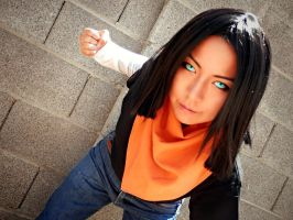 Android 17 Cosplay by Oniakako