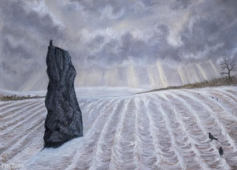 Frozen Field Megalith by PhilipHarvey