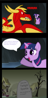 Twilight shouldn't have taken pinkie's advice by BlueAcrylicFox