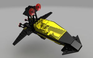 LEGO Blacktron Battrax Ship by zpaolo