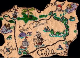 Pirates of the Caribbear Map by max46544