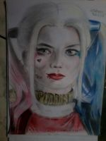 drawing harley quinn suicide squad (margot robbie) by olayo276