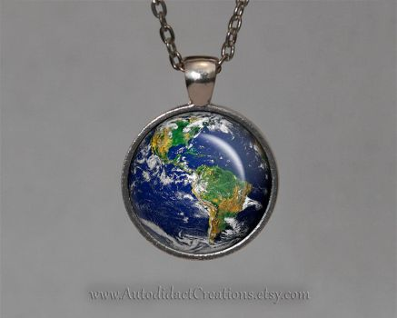 Planet Earth, Earth Day Jewelry by wizardcopy