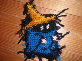 crochet black mage-unfinished by PinkuArt