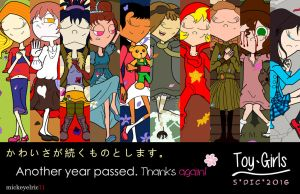 Toy Girls 2nd Anniversary - Ten Petals by mickeyelric11