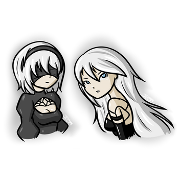 17/05/17 Sketch Request Livestream - 2B and A2 by JezMM