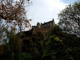 Edinburgh Castle, Trees by CoasterLass