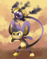 Aipom used Shadow Ball