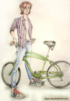 bicycle boy FINISHED by kique-ass