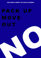 Pack up move out. No! Poster 3 by haileysthelimit
