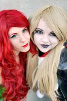Poison Ivy and Harley Quinn 1 by Nikkimomo