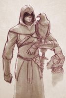 Altair Assassin's creed sketch by melusineistross