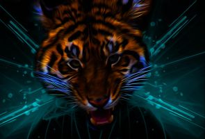 Roaring tiger by Exhibit-The-Mad