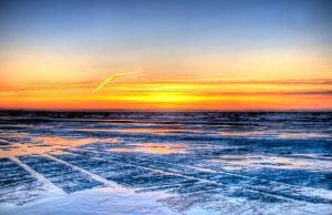 Ice sunset by LaurentiuZ