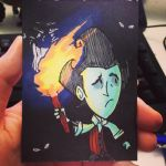 Artist's Trading Card - Wilson and Darkness by letterw