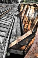 Train Trestle Over Don River by basseca
