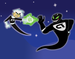 Danny Phantom vs Haunting by DragonRex1