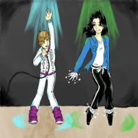 Justin Bieber Performs With MJ by onewingedflash