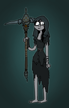 long lady with pickaxe by CoksTheDragon