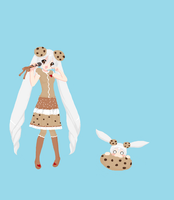 Cookie Miku by drpepperswife
