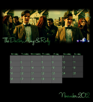 Dr Who Calender - November 2012 by feel-inspired