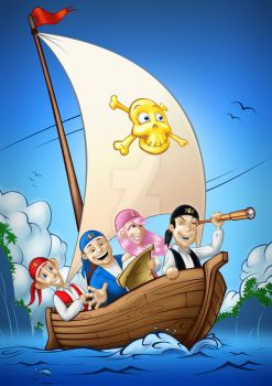 Party Pirates Poster 2 by conkrys