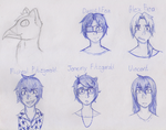 A Griffin and faces with names. by Toastedcake