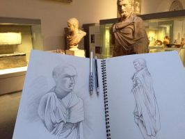 Museum drawing by Heliocyan