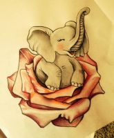 elephant in rose by IOP-Designs