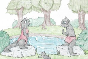 Otter commission final by RaiinbowRaven