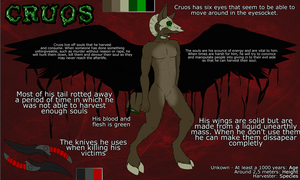 Cruos reference sheet by Eyenoom