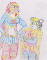 Laikuren and Shay are Supergirl and Robin by WhippetWild