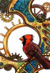 Clockwork Cardinal by SpaceTurtleStudios