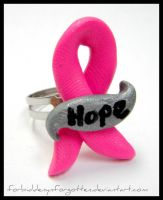Breast Cancer Awareness Ring by Forbiddenynforgotten