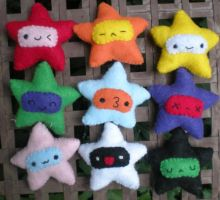 Little Star Plushies by pookat