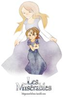 Virtuous Fantine with Cosette by MagicianCelemis