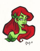 Poison Ivy Bust by BlueUndine