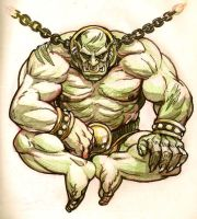 Sketch dump - Chained Orc by KGBigelow