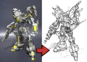 Mecha Study - from Lego model by jcanuc